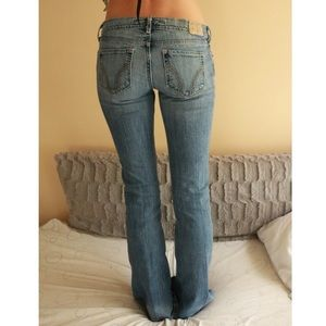 Hollister Stretch Boot Cut Blue Jeans Size 3R !